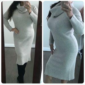 J.crew merino wool midi sweater dress